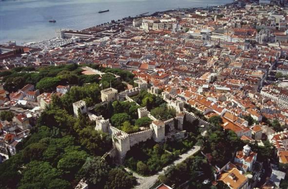 Lisbon Castle aerial view