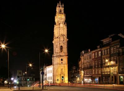 Clerigos Tower at Night