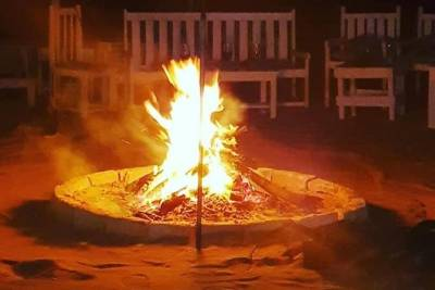 "Romantic Night ""Perola d Chaves"", with sunset on the beach, live music and fire!"