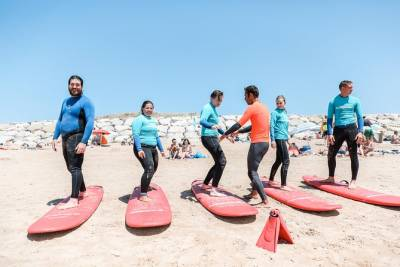 Surf class in Costa da Caparica