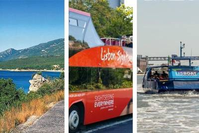 From Lisbon:Sesimbra and Arrabida Natural Park & Hop-on Hop-Off BUS and BOAT
