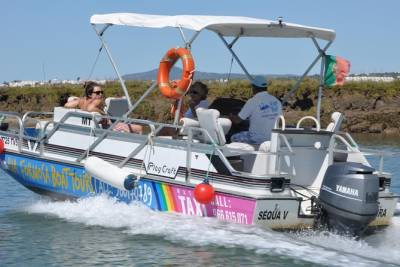 Boat Tour Ria Formosa + Lunch in Tavira Island + Beach sunshade
