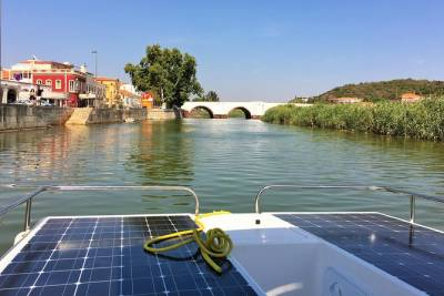 Go Up and Down the Arade River and visit Silves on an Eco Friendly Solar Boat