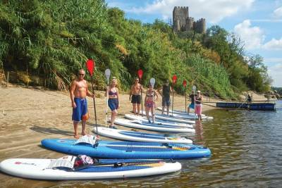 Fun & lunch - Stand Up Paddle day tour in Obidos Lagoon