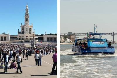 From Lisbon: Fátima Half-Day Private Tour & Hop-off Hop-On Boat