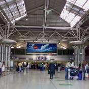 Departures terminal of Lisbon Airport