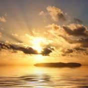 Berlangas Island sunset