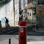 Postbox on Alfama Street