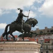 Satue in Praca da Figueira - Lisbon