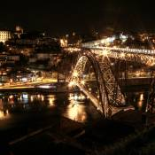 Dom Luís Bridge, Porto. At night