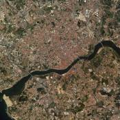 Porto and Gaia - Satellite Photo
