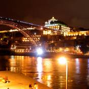 Dom Luis Bridge by Night - Porto