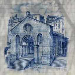 Igreja de Sao Tiago Azulejo - Coimbra