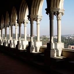 Leiria Castle palace view
