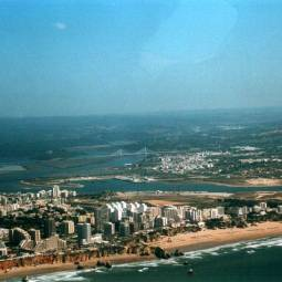 Praia da Rocha and Portimao from the Air
