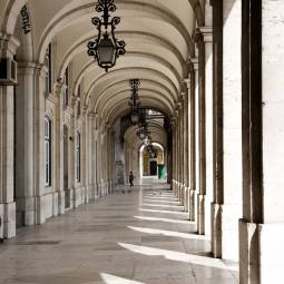 Arcade off Praca do Comercio - Lisbon