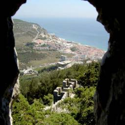View over Sesimbra from the Castle