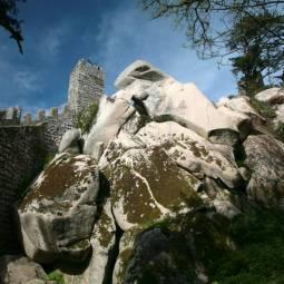 Rocks inside Moors Castle Walls - Sintra