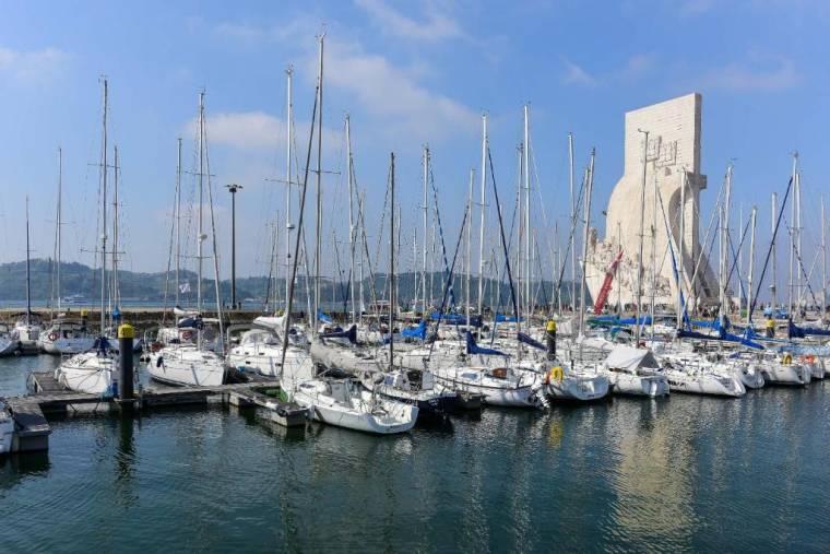 Luxury yacht on the Tagus