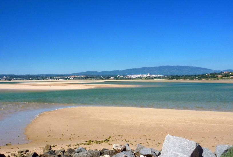 Alvor - View across estuary to Figueira