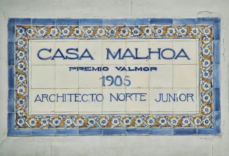 Casa Malhao plaque