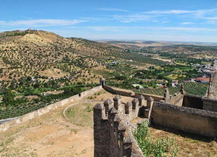 View to Nossa Senhora da Graça Fort from Castelo de Elvas