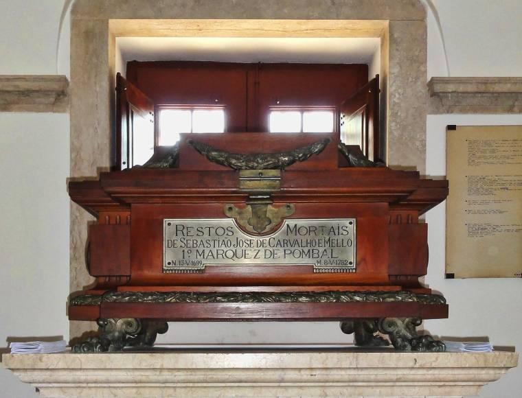 Mausoleum of the Marquês de Pombal in the Igreja da Memória