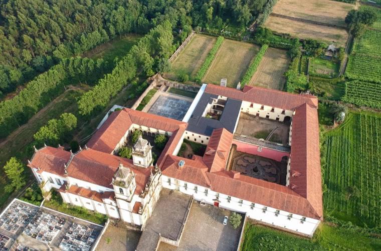 Monastery of São Martinho de Tibães from the air