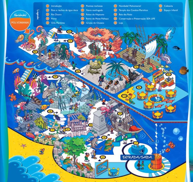Sea Life Porto map