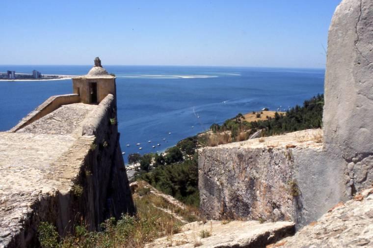 Setubal Castle view