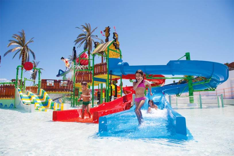 Slide and Splash kids area