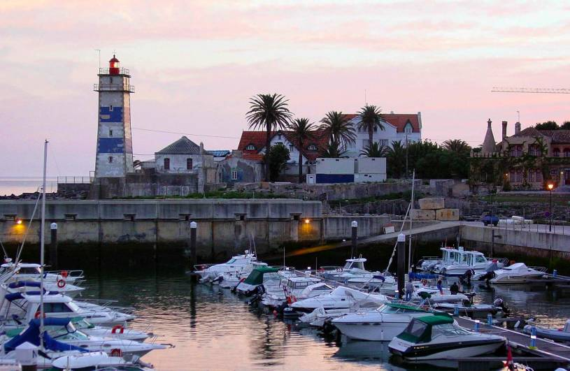 Cascais marina and lighthouse