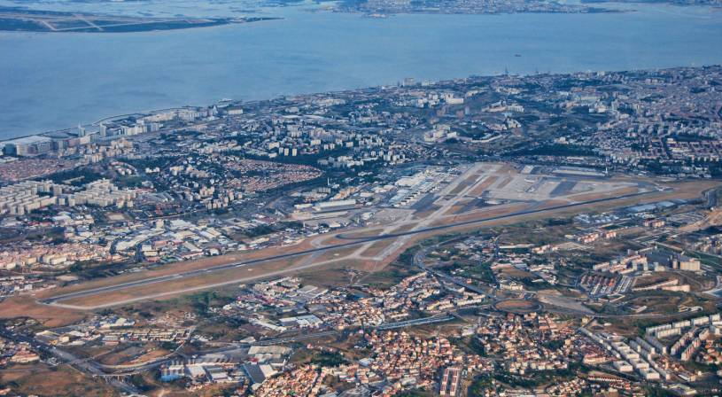 Lisbon Airport from the air