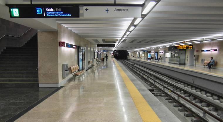 Lisbon airport metro station