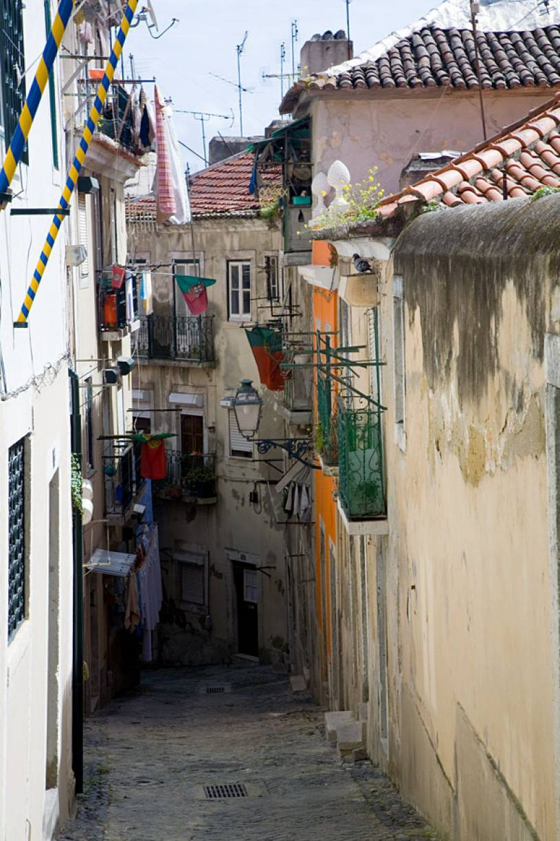 Typical Alfama Street