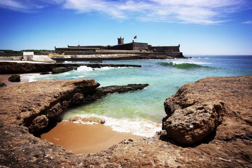 Carcovelos Beach and Sao Juliao Fort