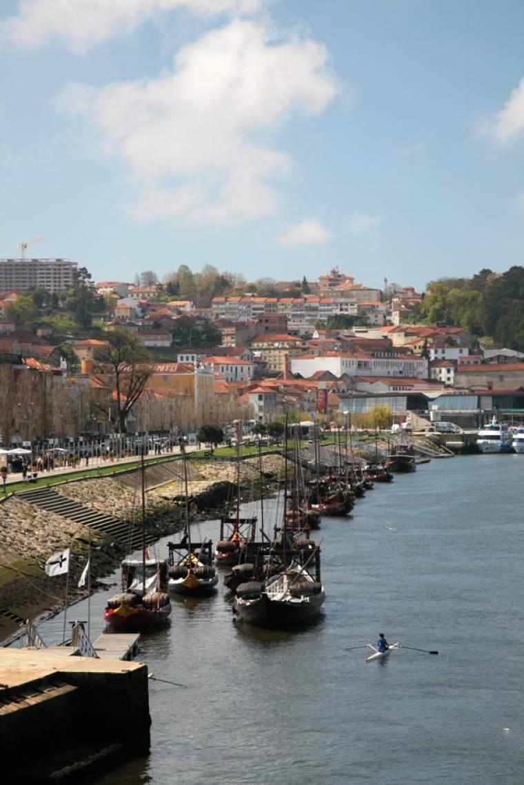 Barcos Rabelo at Vila Nova de Gaia