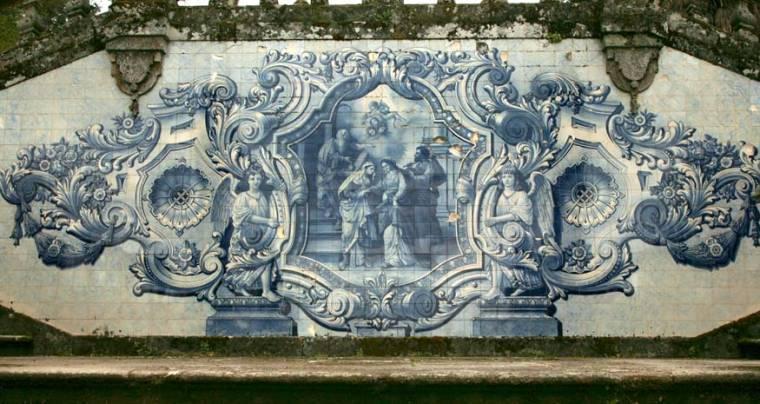 Azulejos on Steps to Santuário Nossa Senhora dos Remédios - Lamego