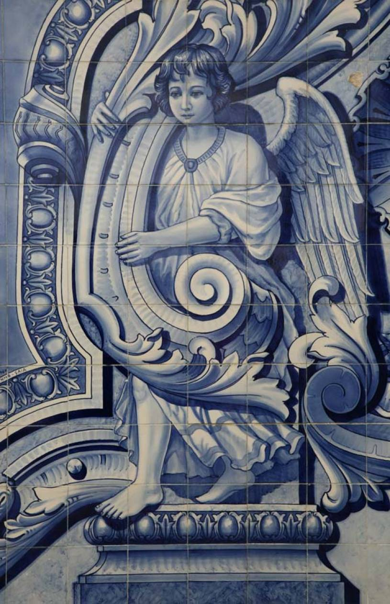 Detail of Angel Azulejos at Santuário Nossa Senhora dos Remédios - Lamego