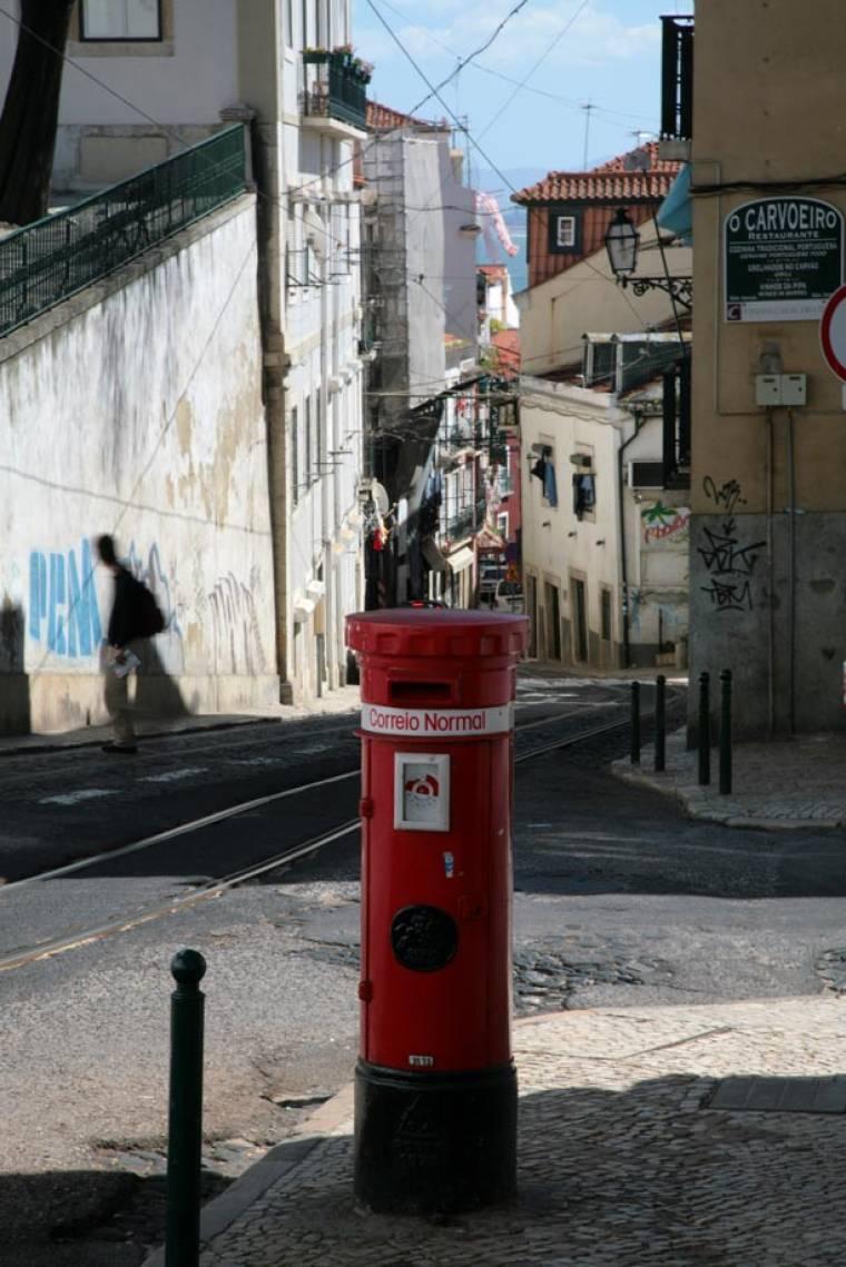 Postbox on Alfama Street