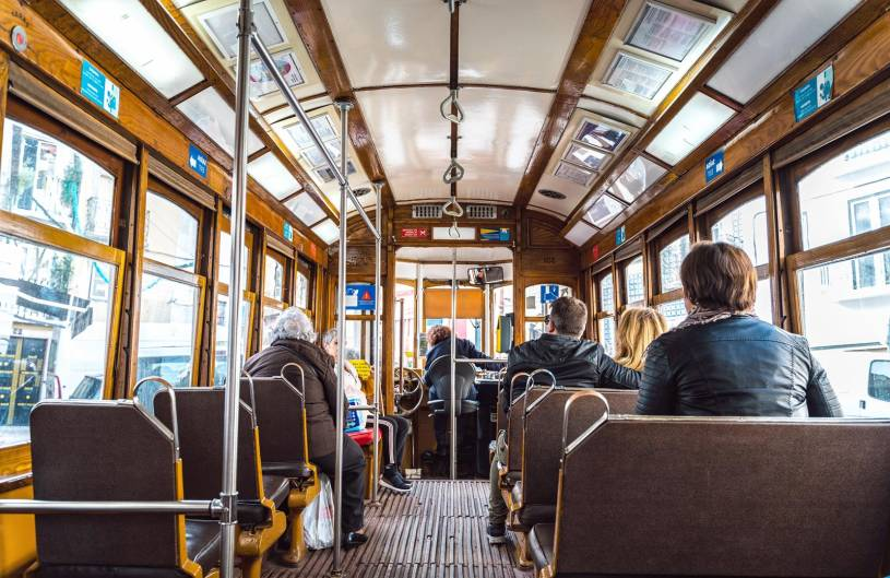 Onboard the Number 28 Tram