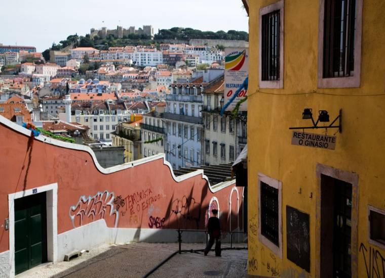 Lisbon view from Bairro Alto