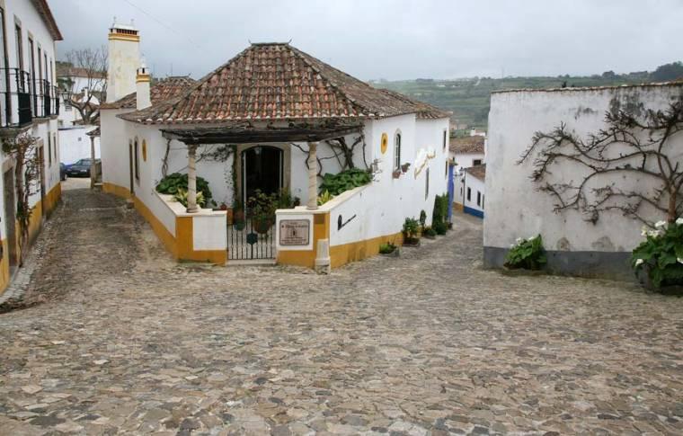House on Corner - Obidos