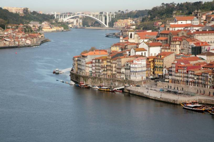 River Douro View from Ribeira to Arrabida - Porto