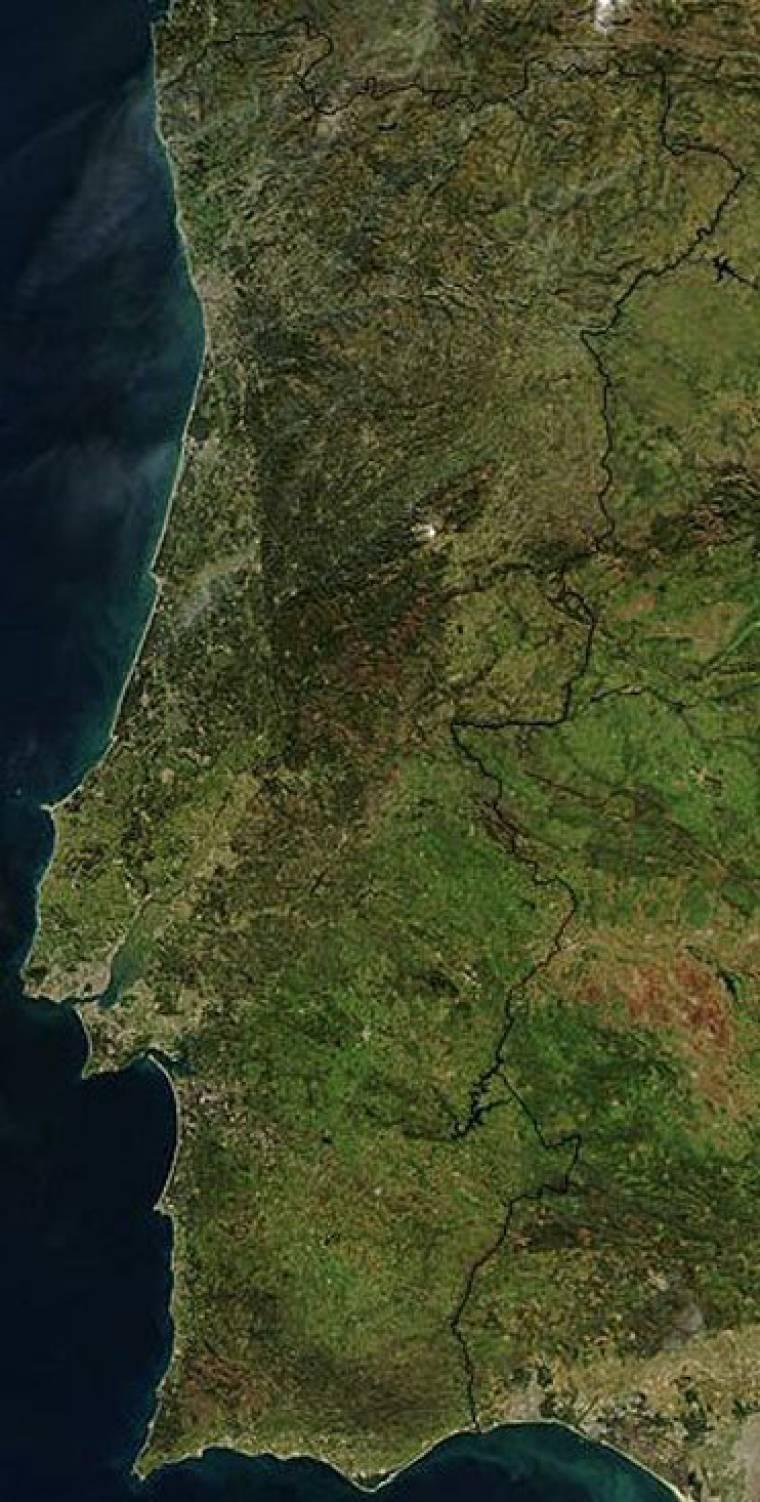 Satellite Image of Portugal