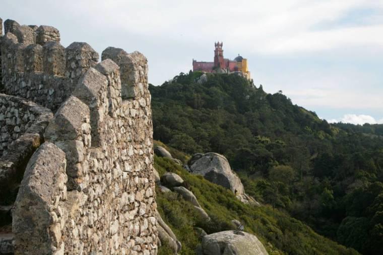 Pena Palace from Moorish Castle - Sintra