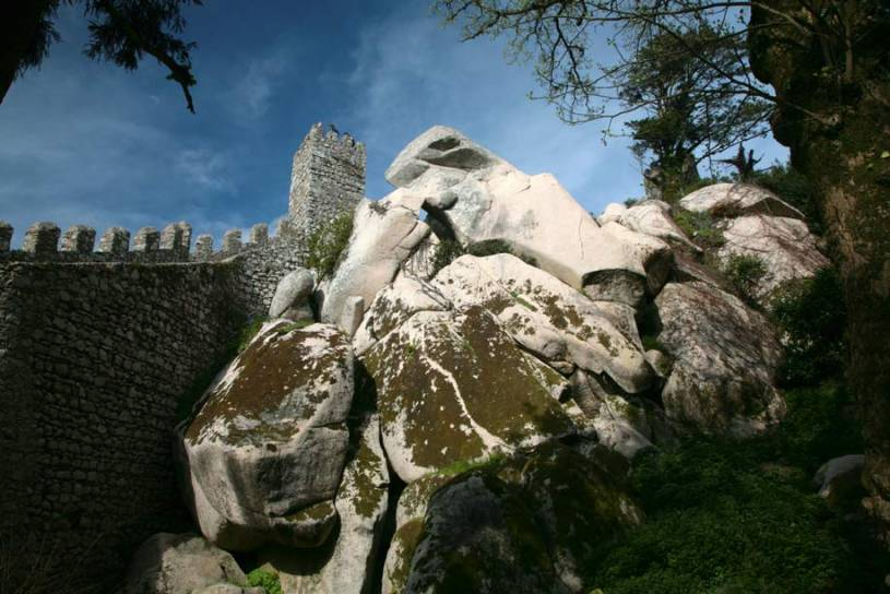 Rocks inside Moors Castle Walls - Sintra